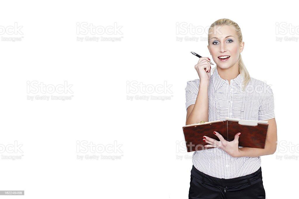 Woman get idea royalty-free stock photo