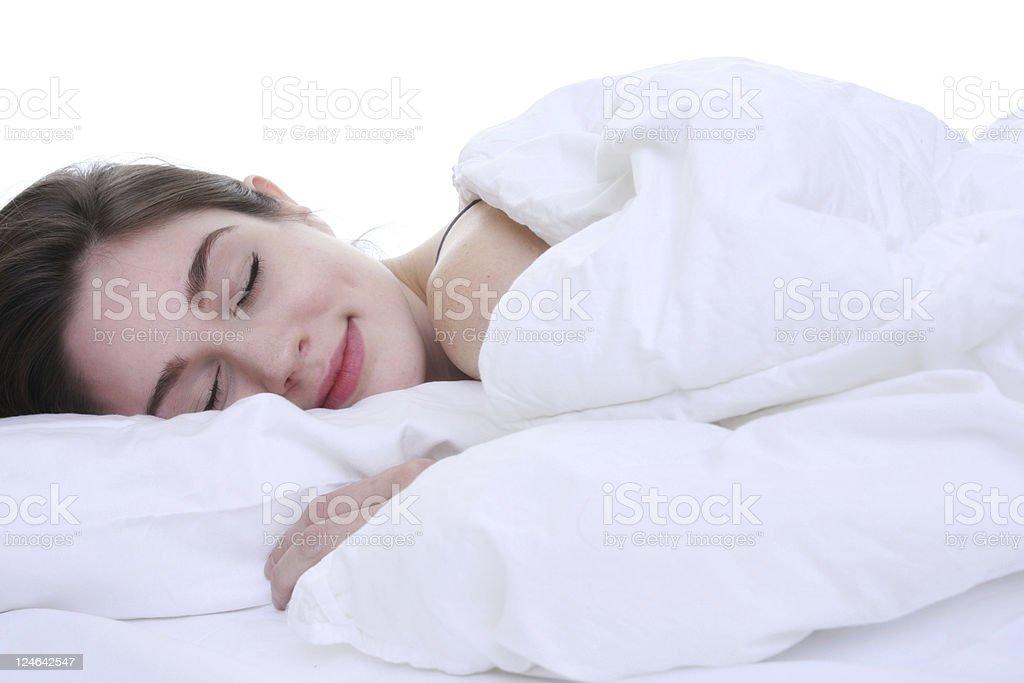 Woman getting a peaceful sleep royalty-free stock photo