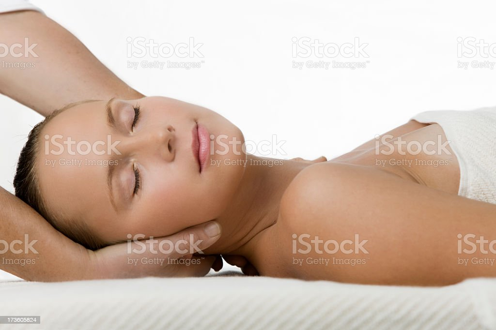 woman getting massage royalty-free stock photo