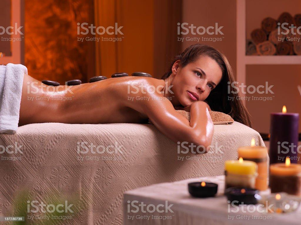woman getting massage treatment royalty-free stock photo