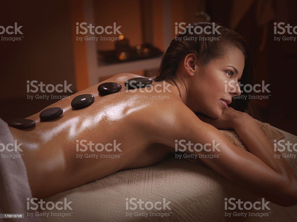 woman getting massage treatment royalty-free stock photo