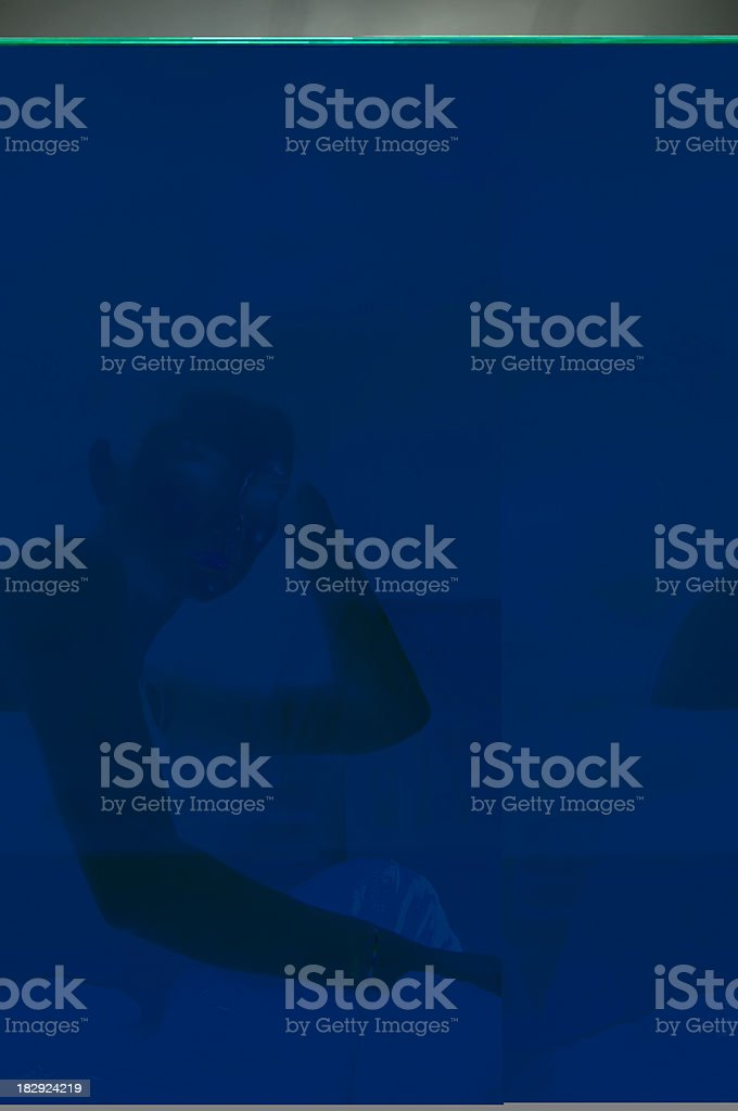 woman getting massage with ball royalty-free stock photo