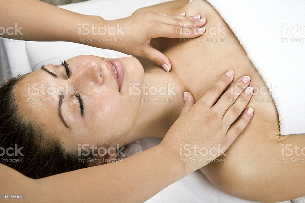 woman getting spa treatment royalty-free stock photo