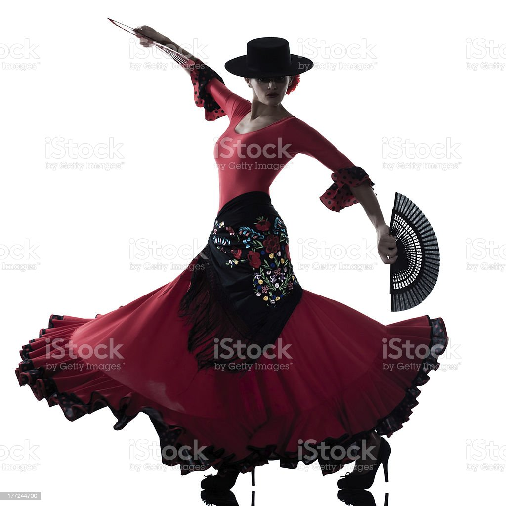 woman gipsy flamenco dancing dancer stock photo