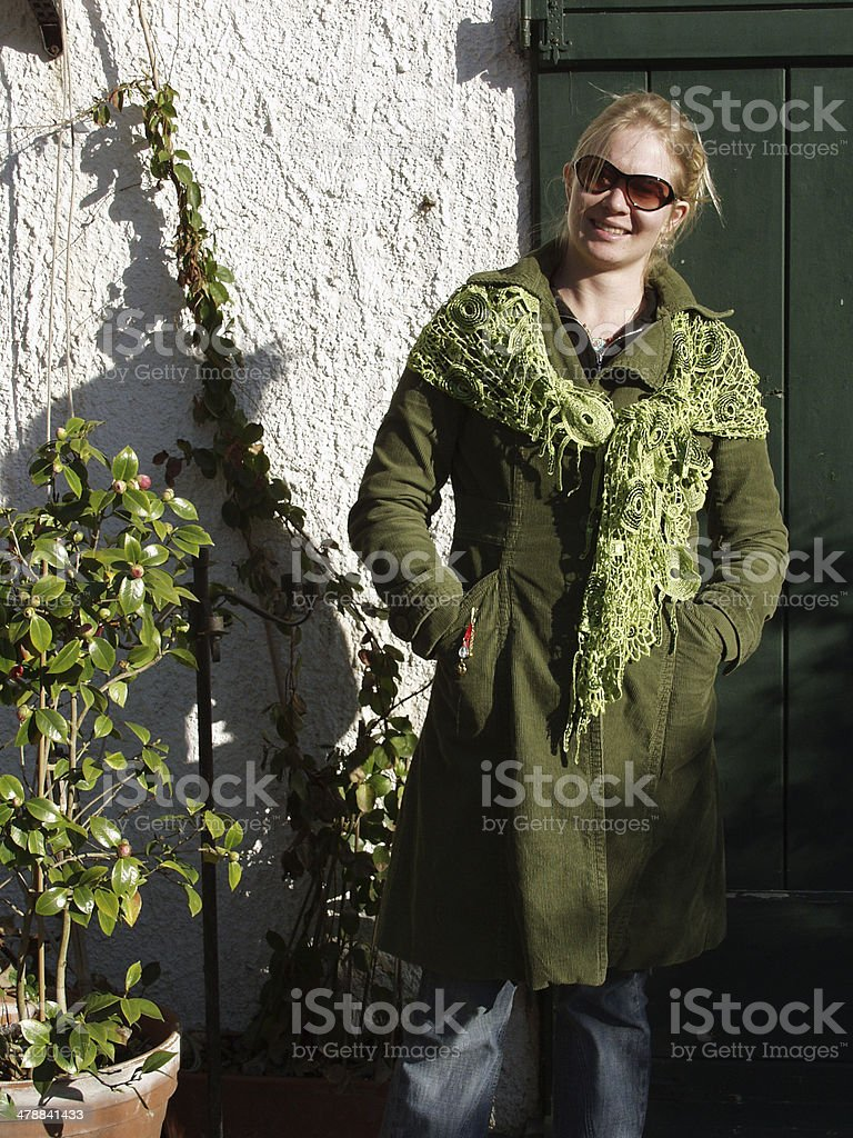 Woman going for a walk. royalty-free stock photo