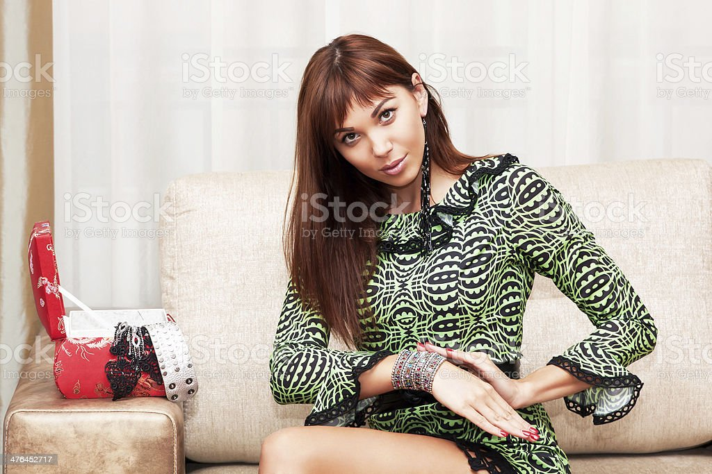 Woman going to a party royalty-free stock photo