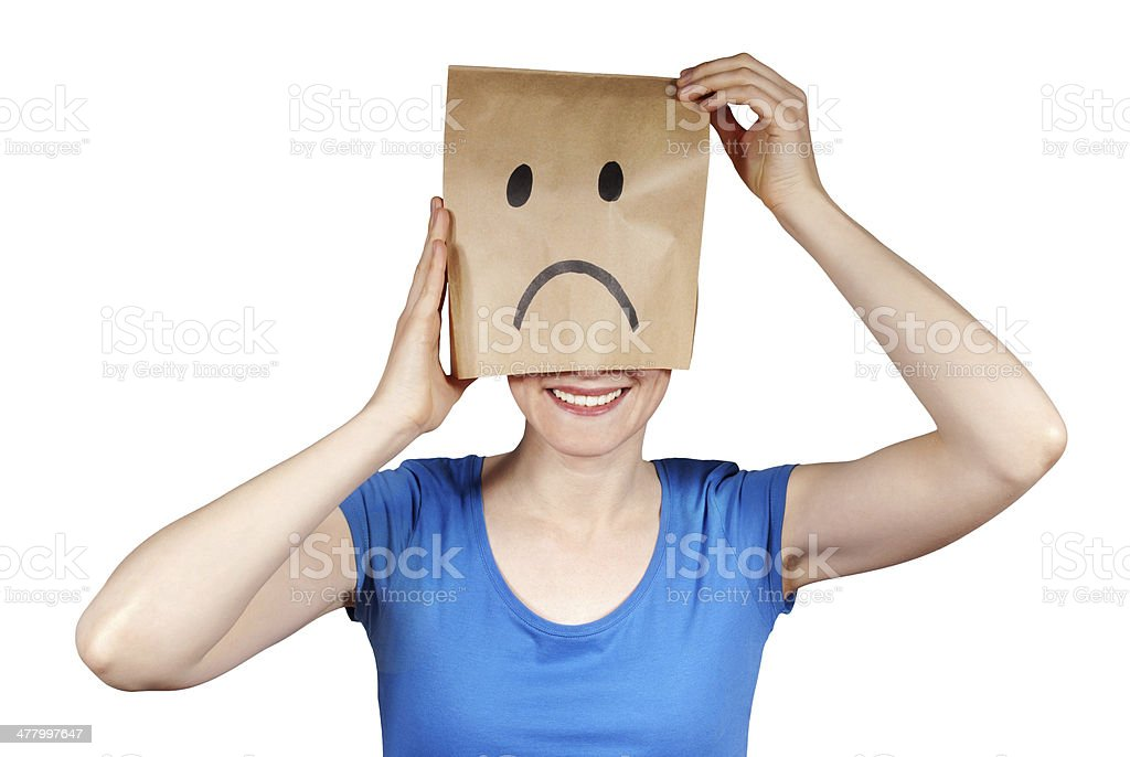 woman going to be happy stock photo