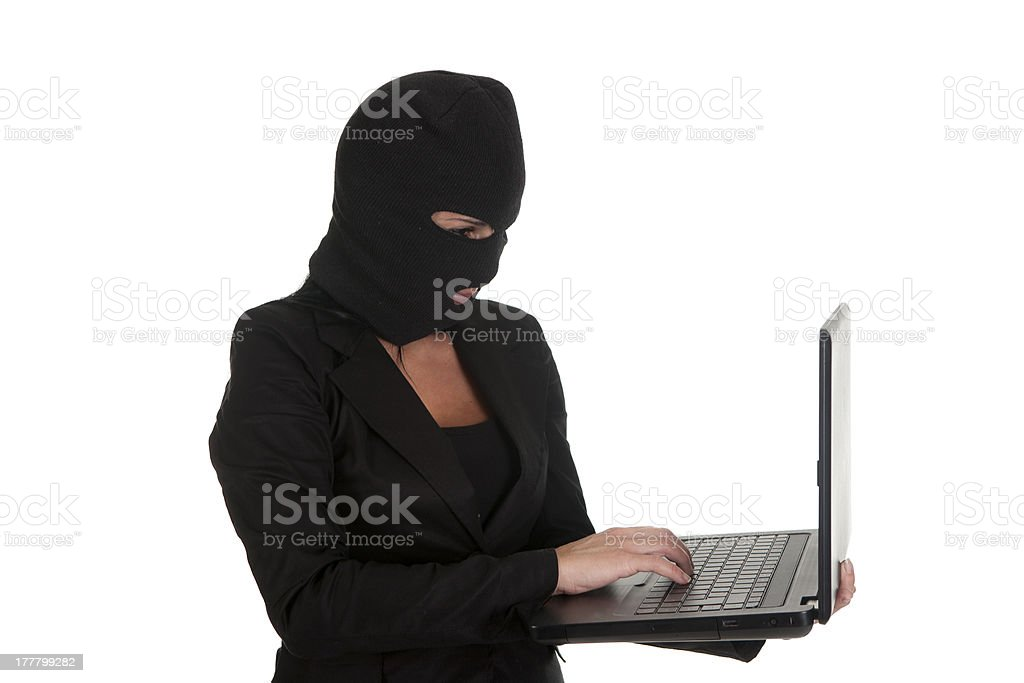 woman hacker royalty-free stock photo