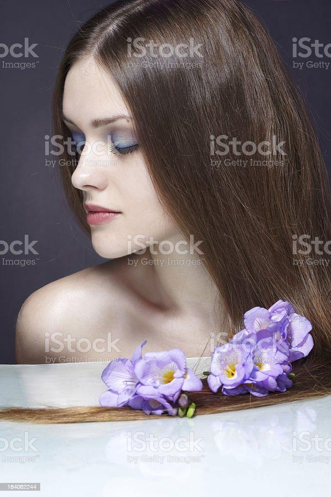 woman hair royalty-free stock photo