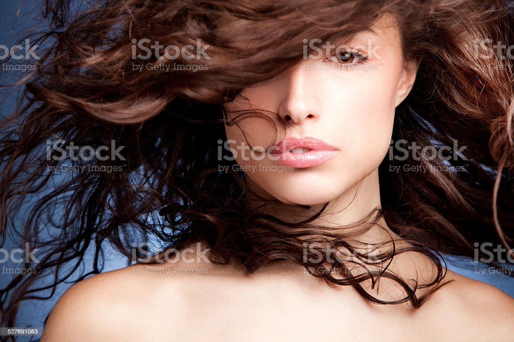 woman hair stock photo