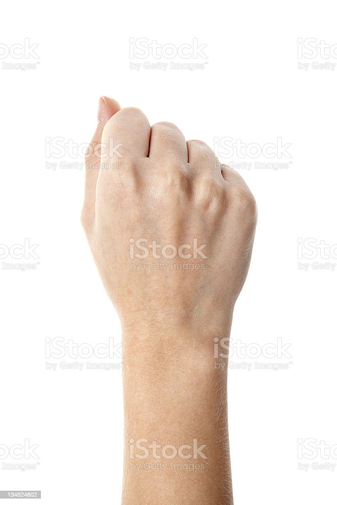 Woman hand fisting stock photo