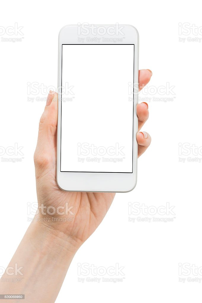 Woman Hand Holding the Smart Phone stock photo