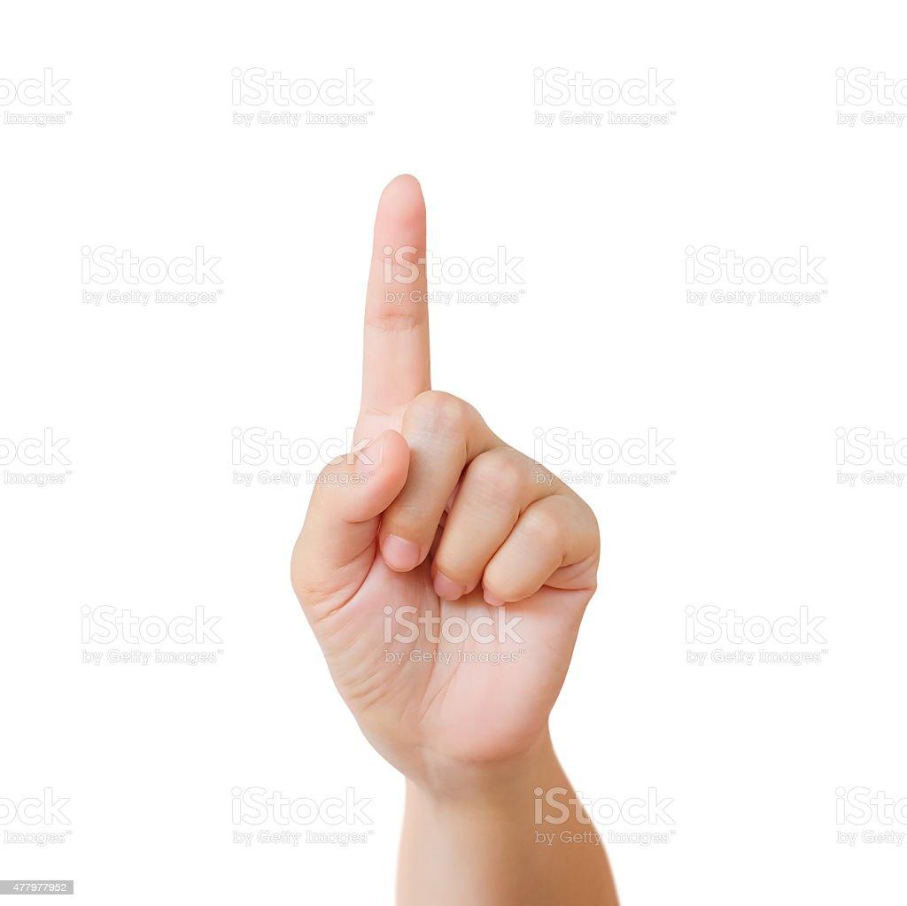 Mujer manos aisladas sobre fondo blanco foto de stock libre de derechos