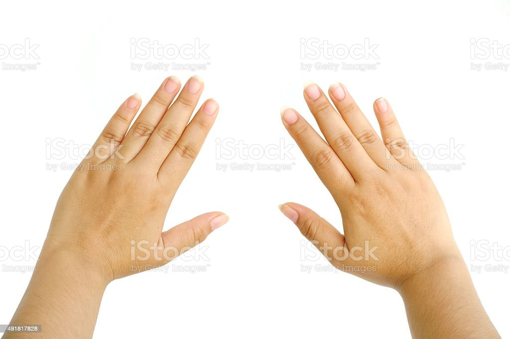 woman hand isolated stock photo