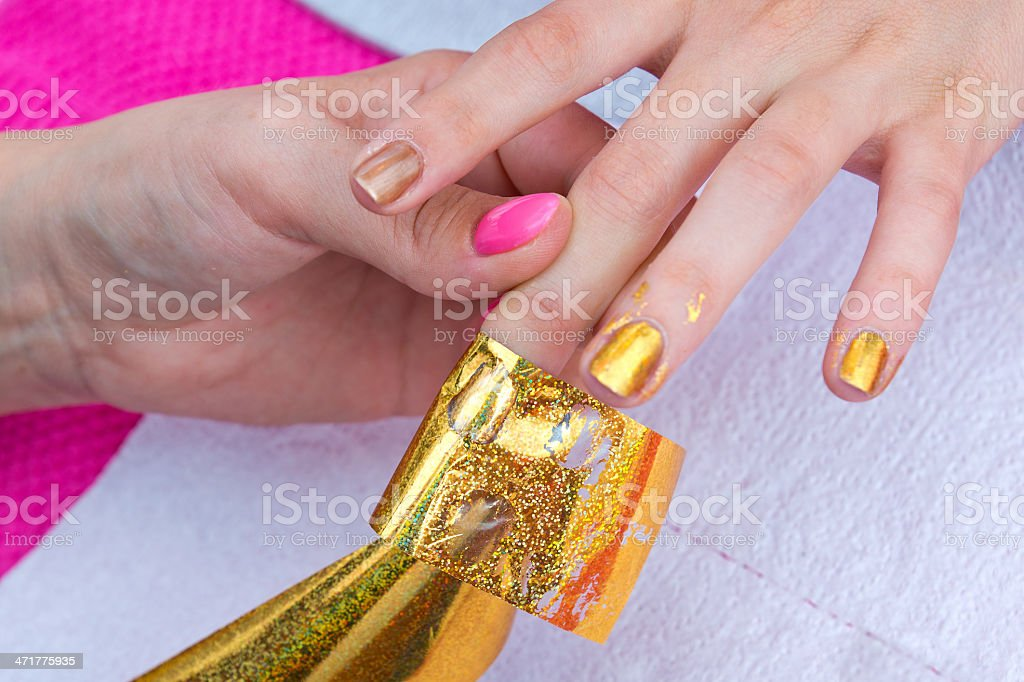 woman hand on manicure royalty-free stock photo