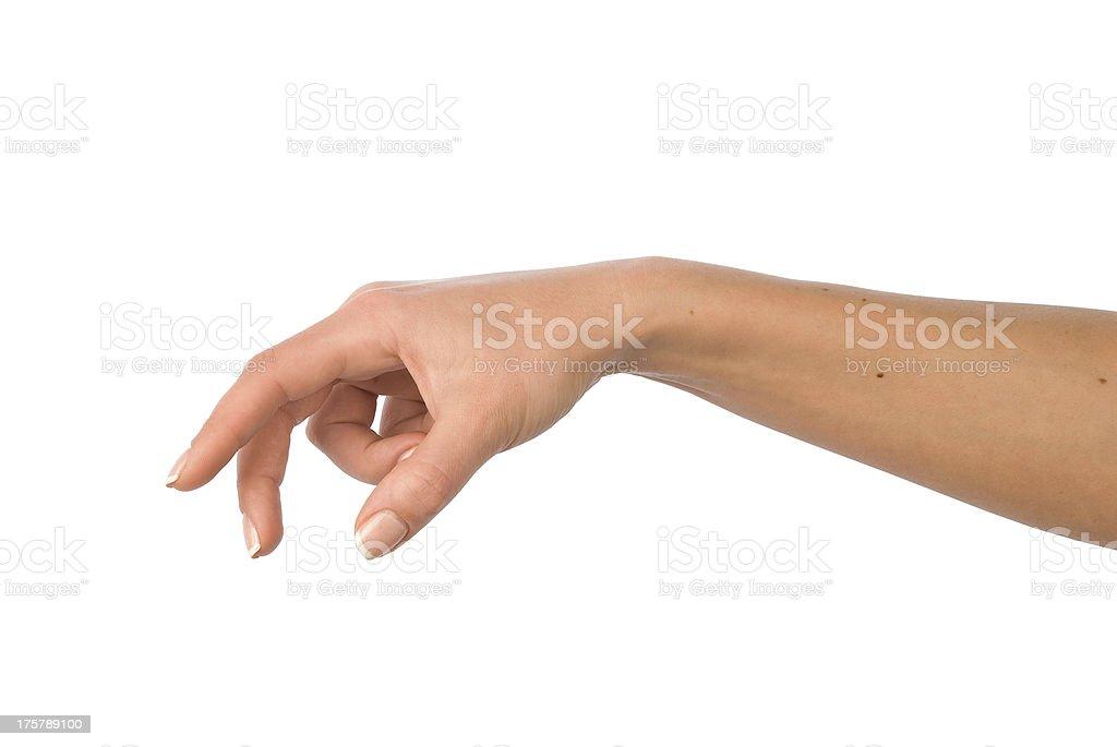 Woman hand stock photo