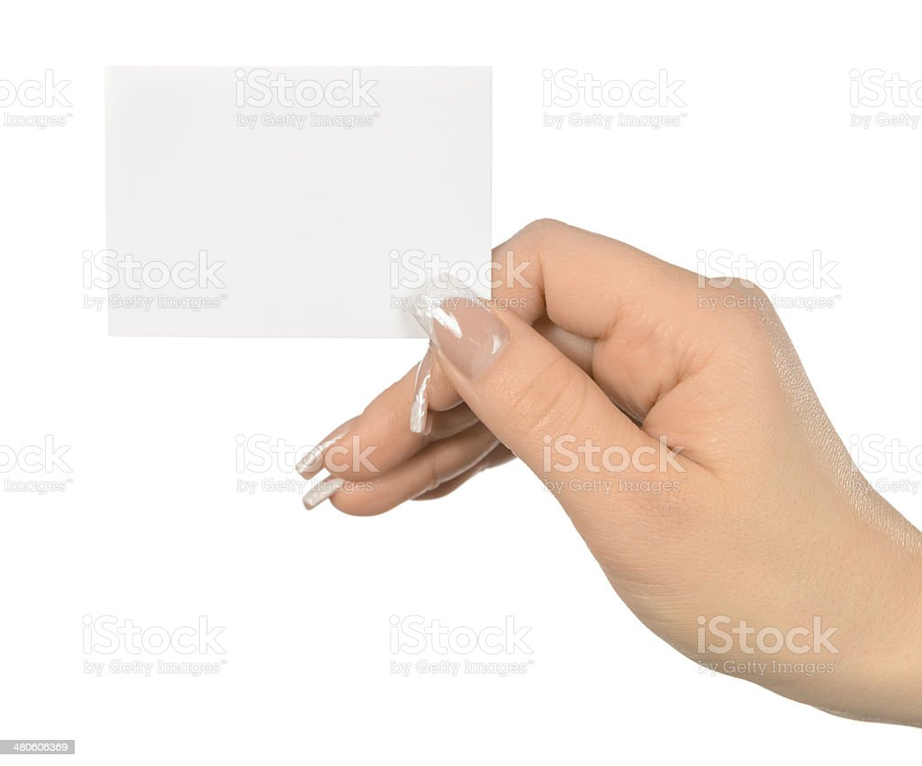 woman hand with card royalty-free stock photo