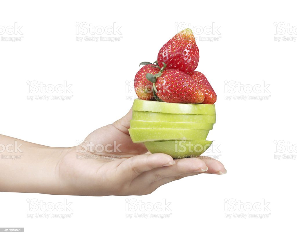 Woman hand with fruits royalty-free stock photo