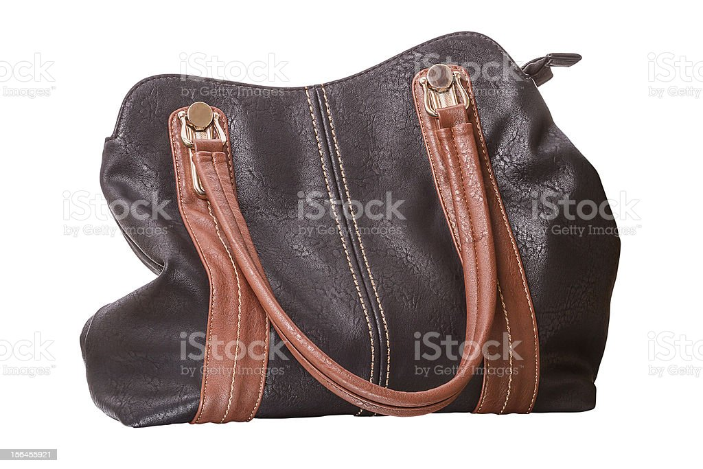 Woman handbag on white royalty-free stock photo
