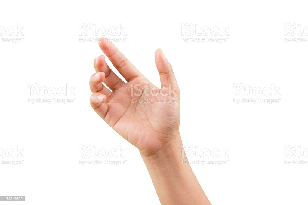 Woman handle of posture stock photo
