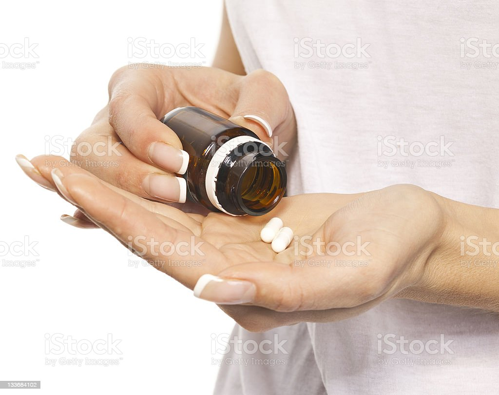 woman Hands of pils royalty-free stock photo