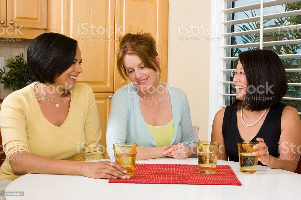 Woman hanging out and talking royalty-free stock photo