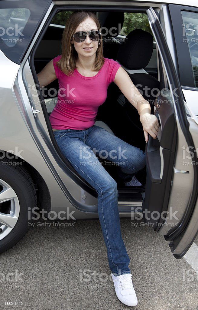 Woman has arrived royalty-free stock photo
