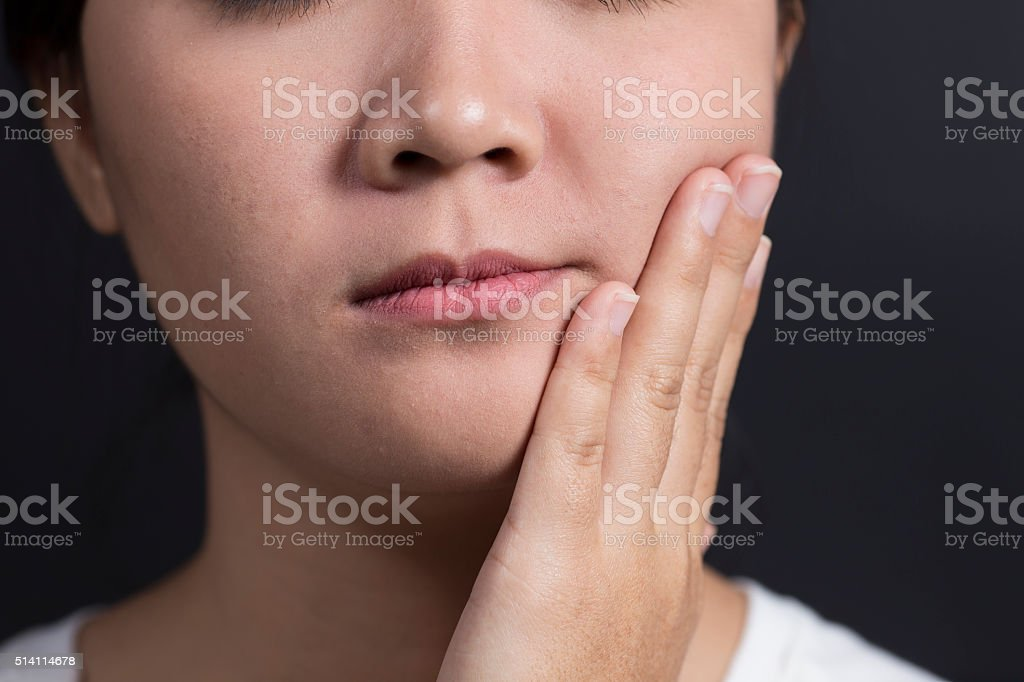 Woman has Tooth Ache stock photo