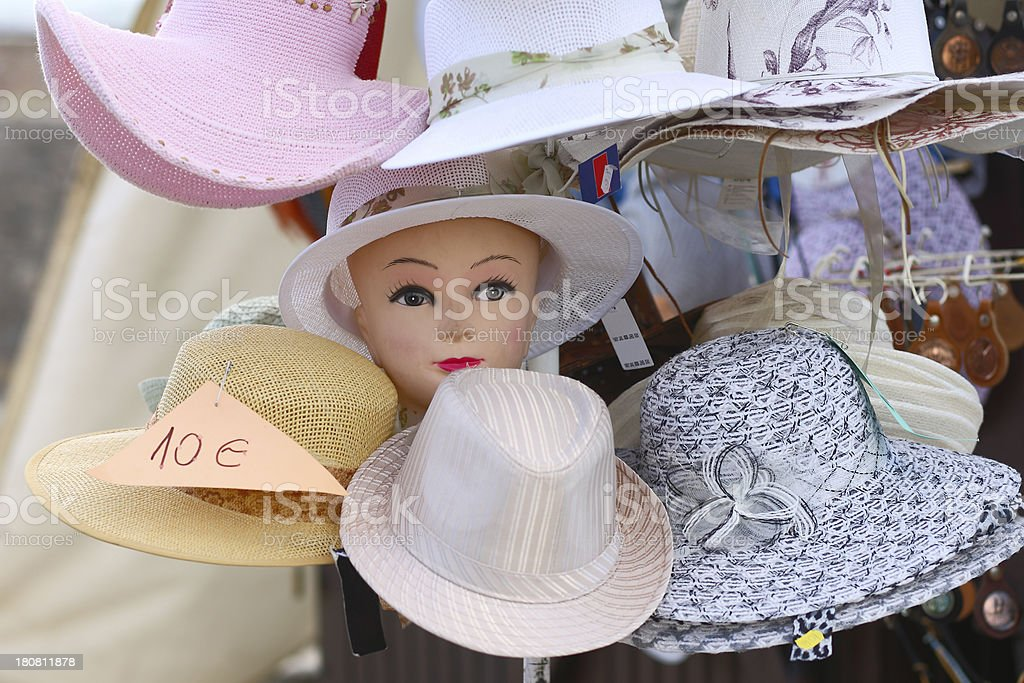 Woman hats stock photo