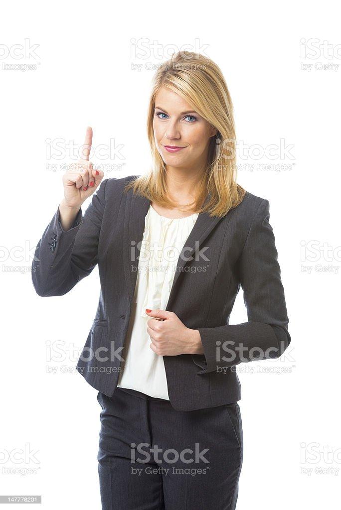 Woman having a business idea. royalty-free stock photo