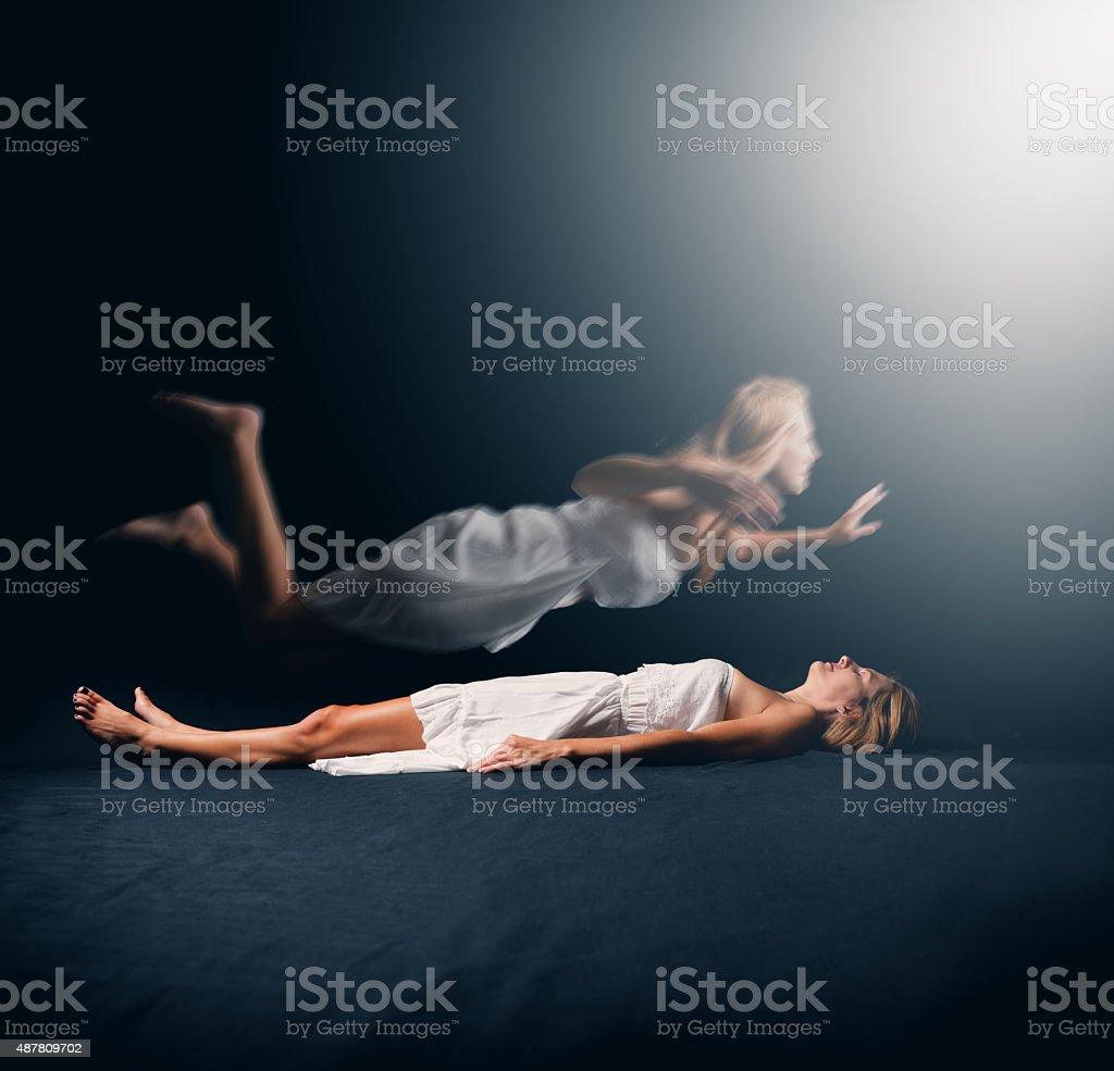 Woman Having A Spiritual Experience stock photo