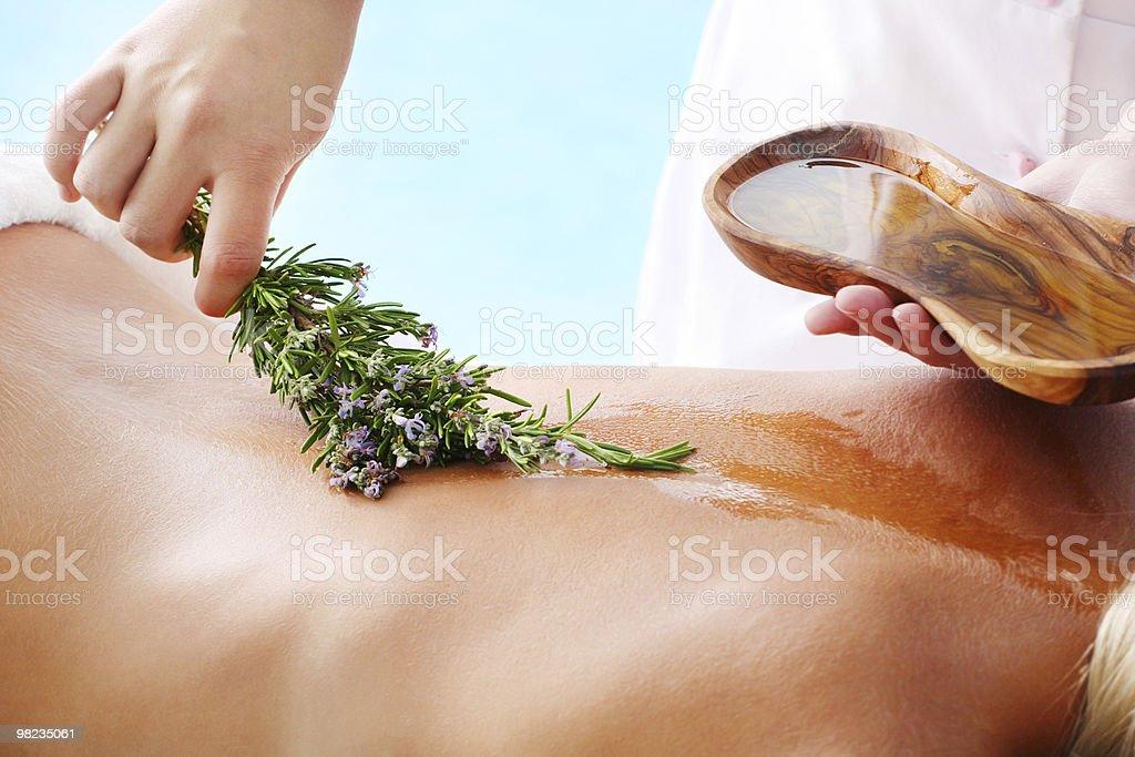 A woman having an organic beauty treatment royalty-free stock photo