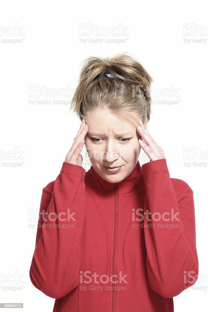 woman having migraine stock photo