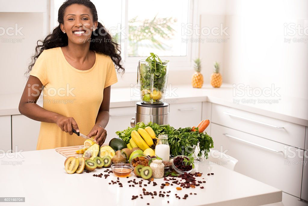 Woman healthy eating lifestyle. stock photo