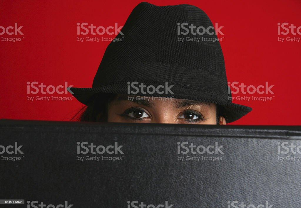 Woman Hiding royalty-free stock photo