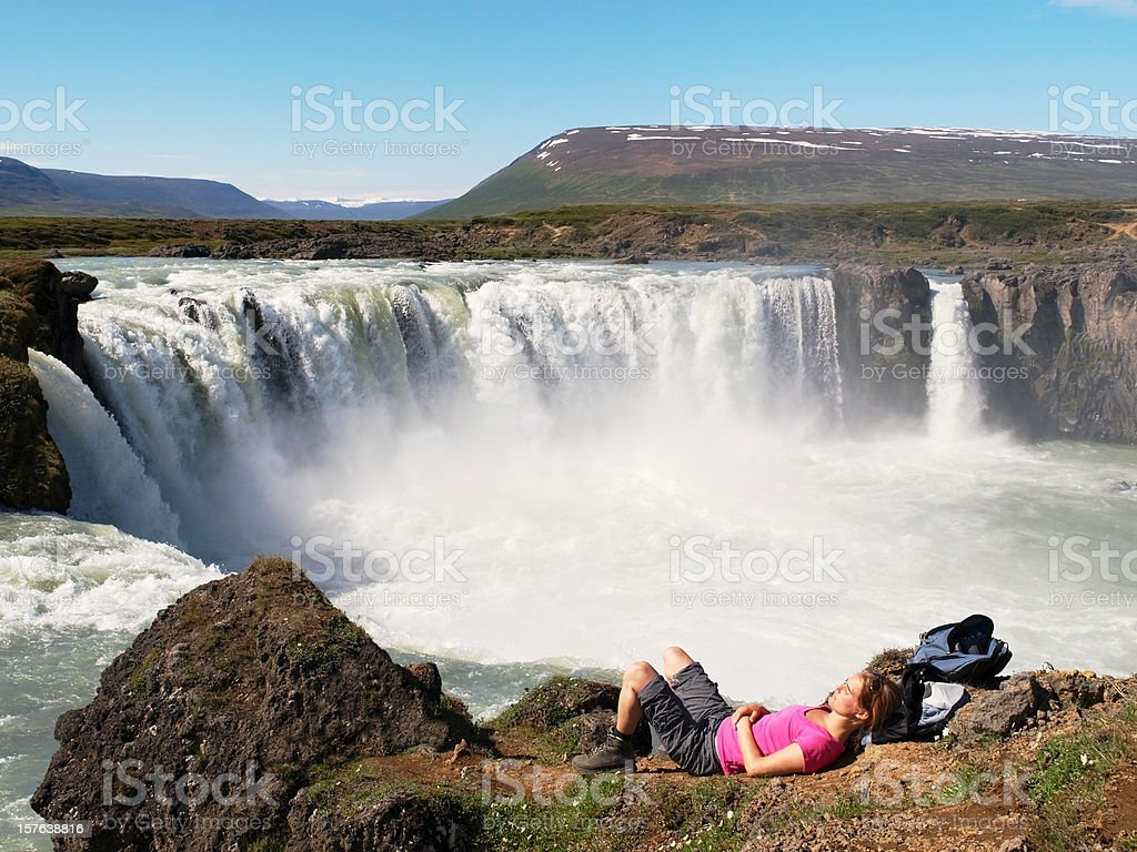 Woman Hiker resting royalty-free stock photo