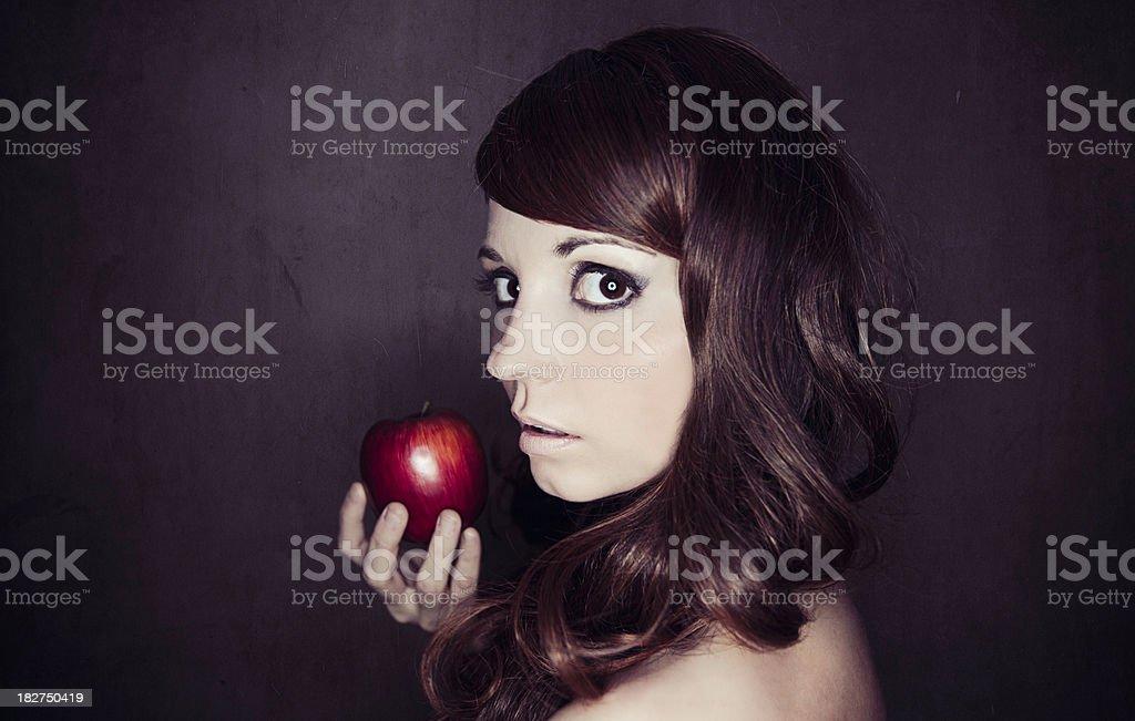 Woman Holding Apple stock photo