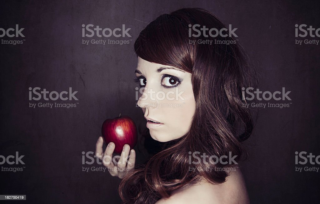 Woman Holding Apple stock photo