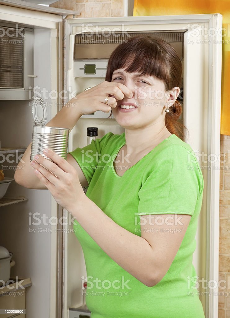 woman  holding foul food royalty-free stock photo