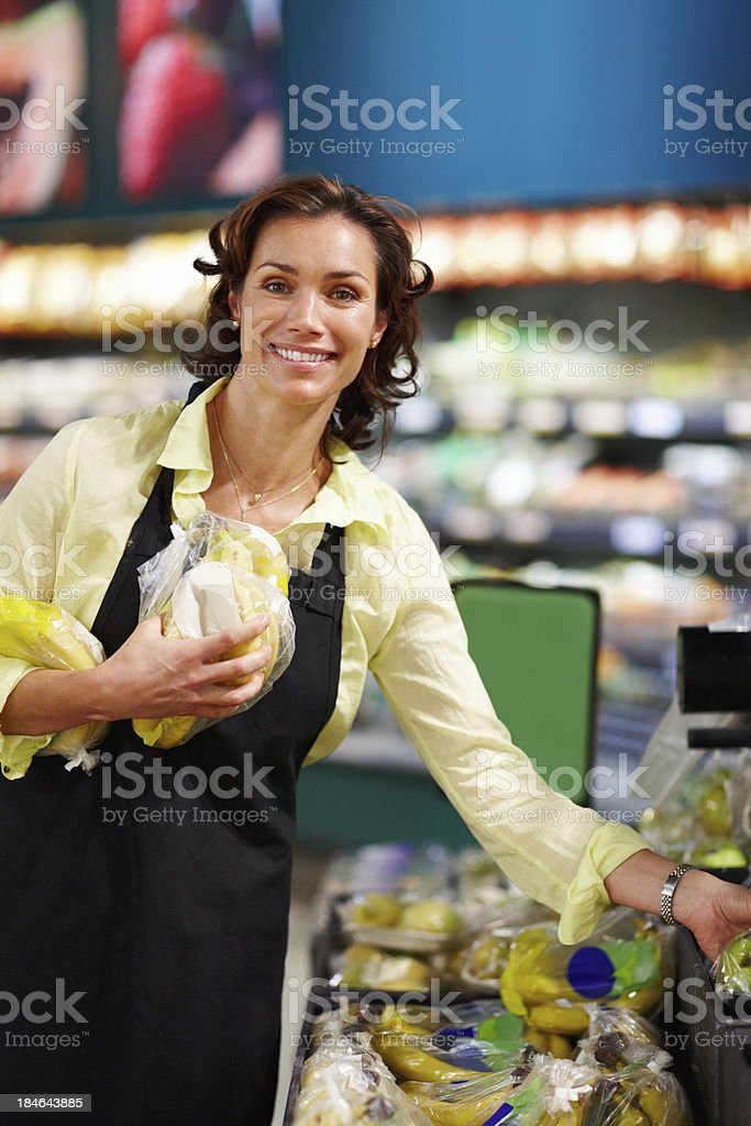 Woman holding fruits royalty-free stock photo