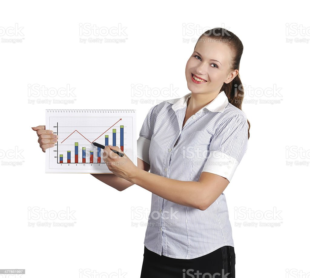 woman holding note pad royalty-free stock photo