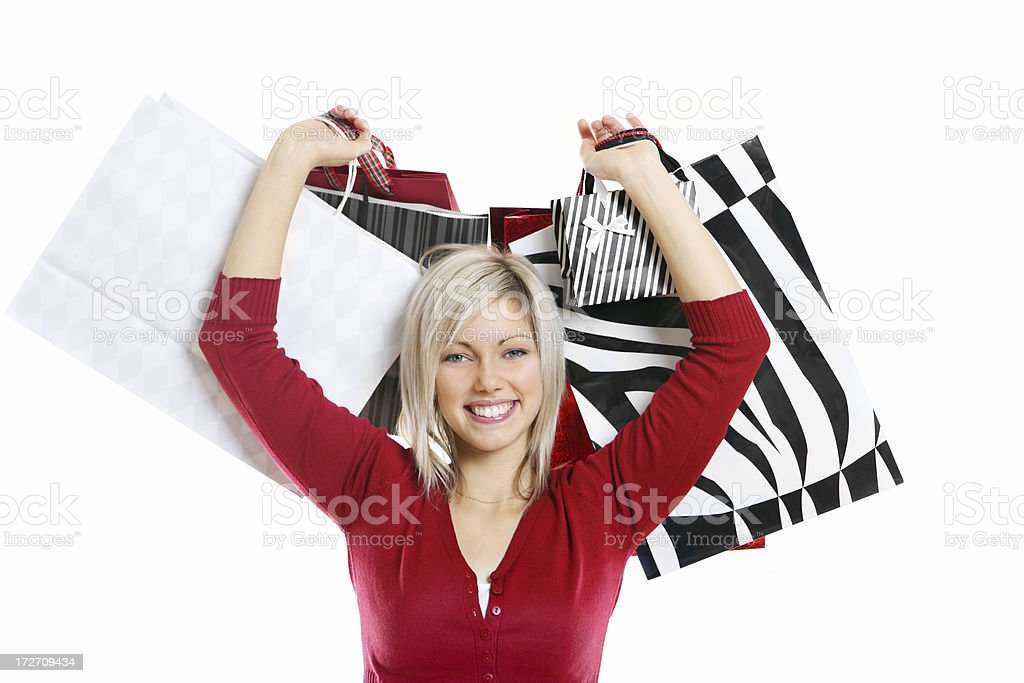 Woman Holding Shoppingbags royalty-free stock photo