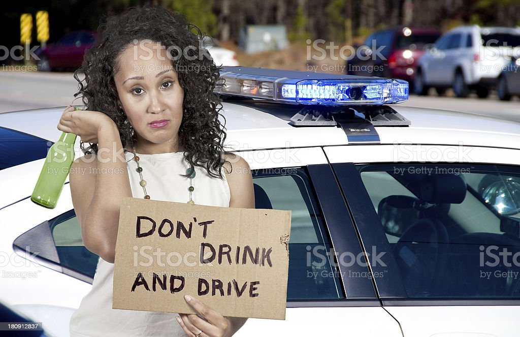 Woman Holding Sign stock photo