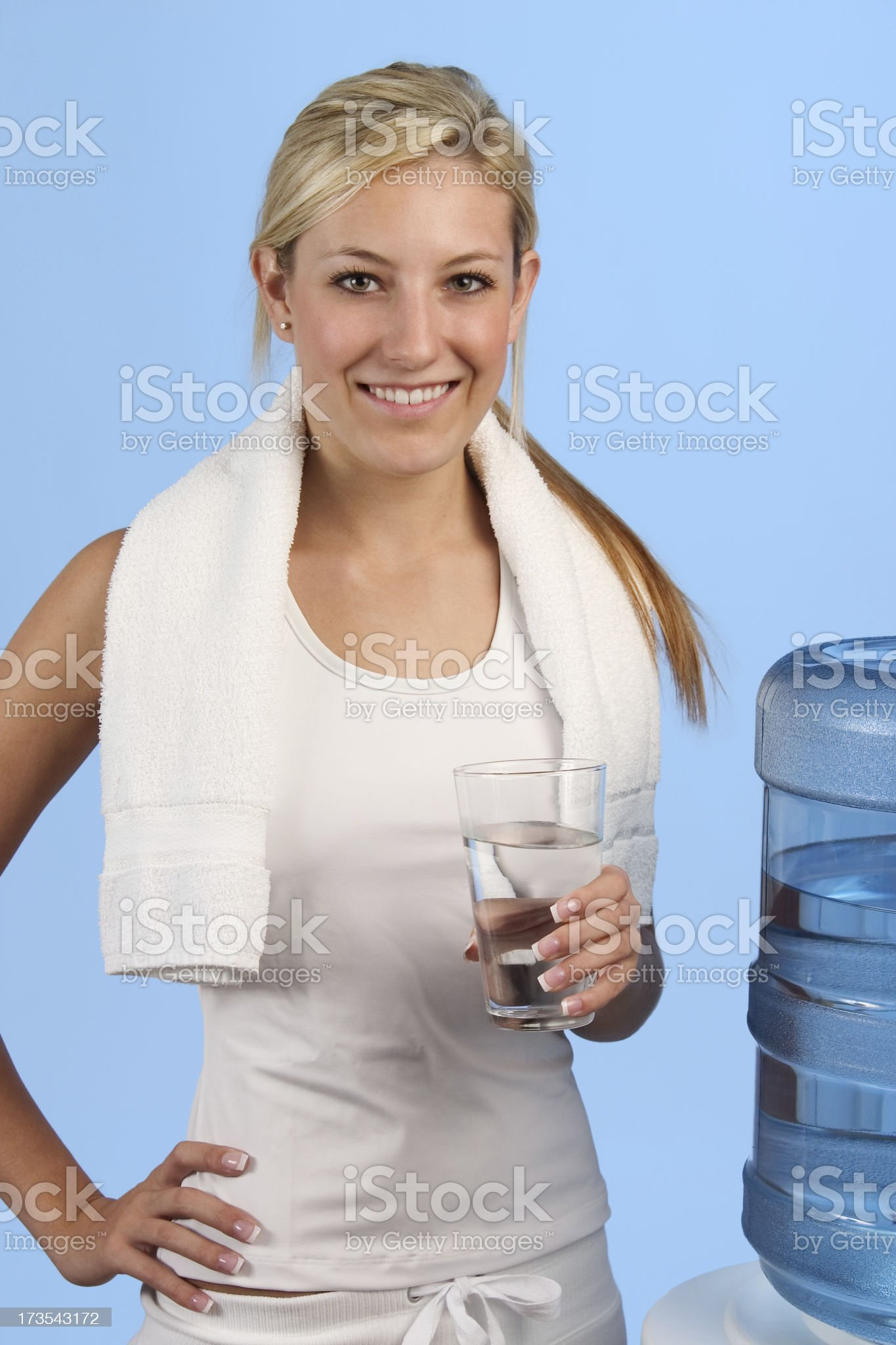 Woman Holding Water Glass royalty-free stock photo