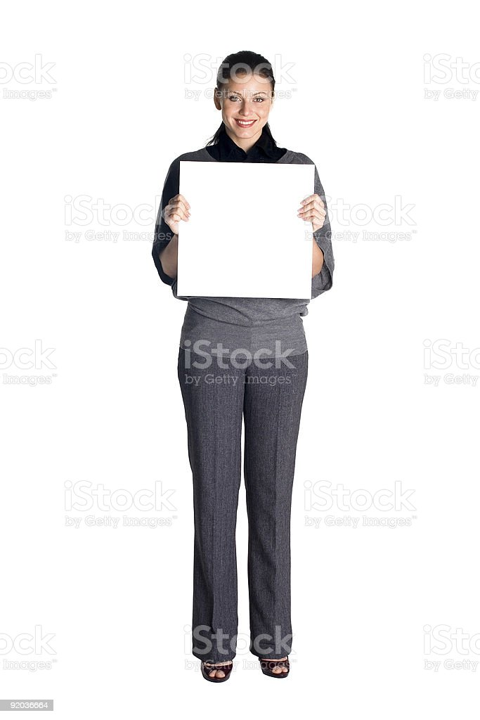 Woman  holds the tablet royalty-free stock photo
