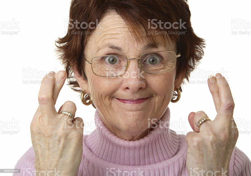 Woman Hoping royalty-free stock photo