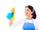Woman housecleaning