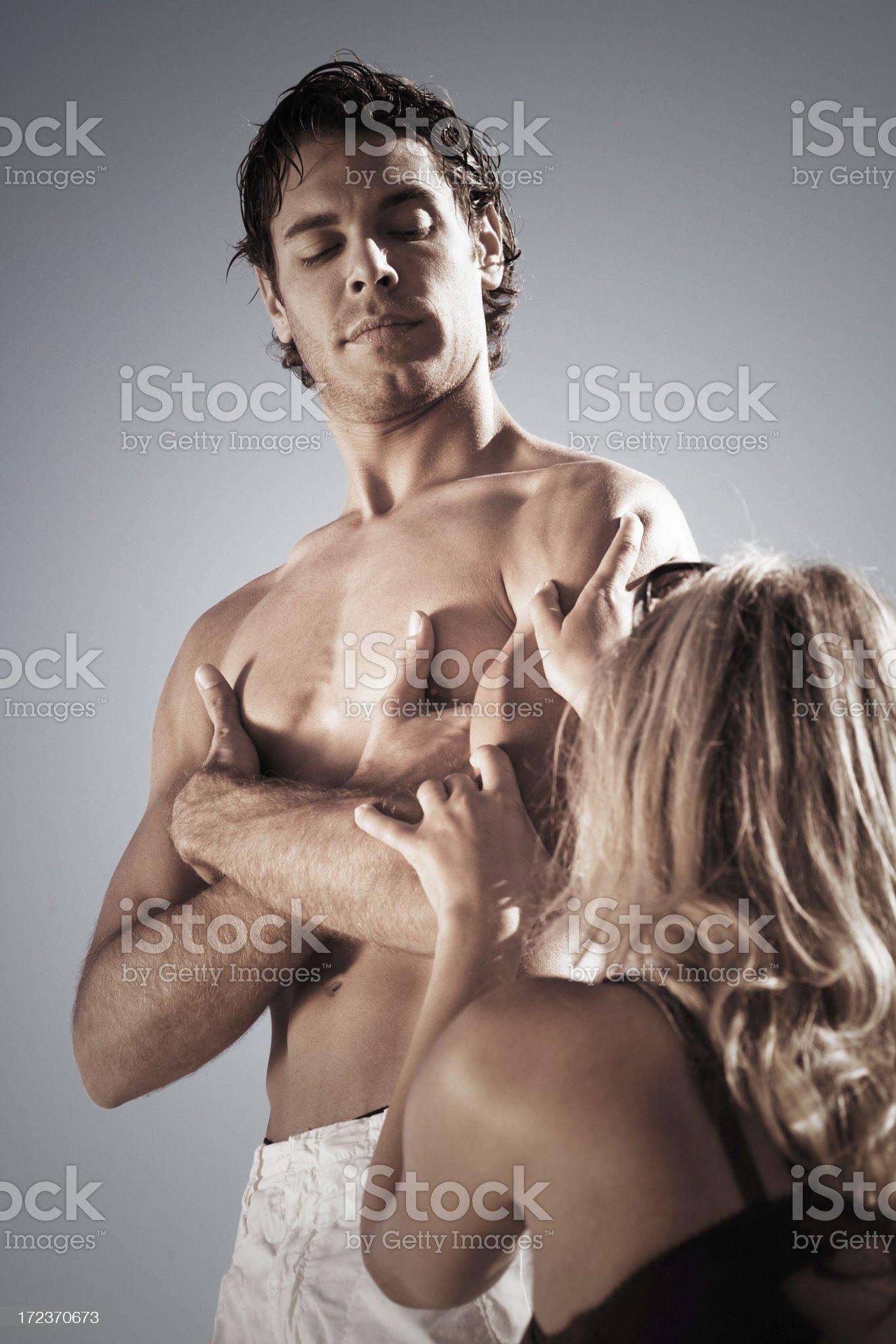 Woman imploring love royalty-free stock photo