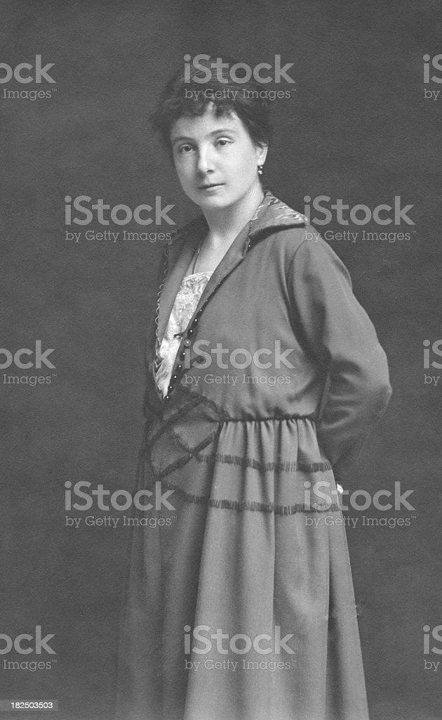 Woman in 1920 royalty-free stock photo