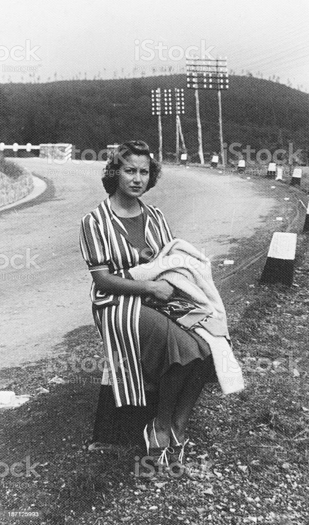 Woman in 1942 royalty-free stock photo